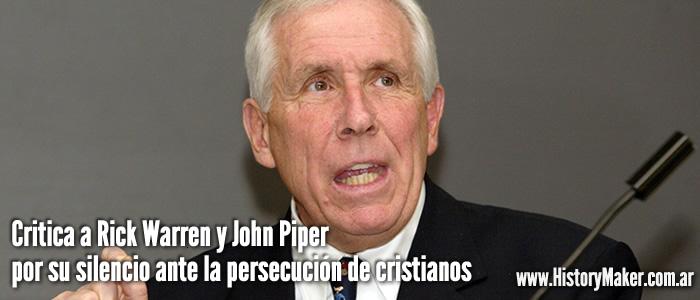 Congresista critica a Rick Warren y John Piper por su silencio ante la persecución de cristianos