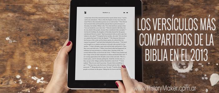 Los versículos de la Biblia más compartidos en 2013