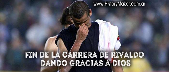 Fin de la carrera de Rivaldo  dando gracias a Dios