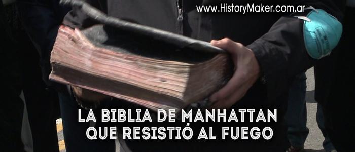 La Biblia de Manhattan que resistió al fuego
