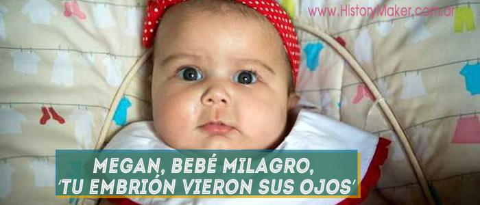Megan Hui bebé milagro tu embrión vieron Sus ojos