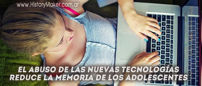 abuso nuevas tecnologías reduce memoria adolescentes