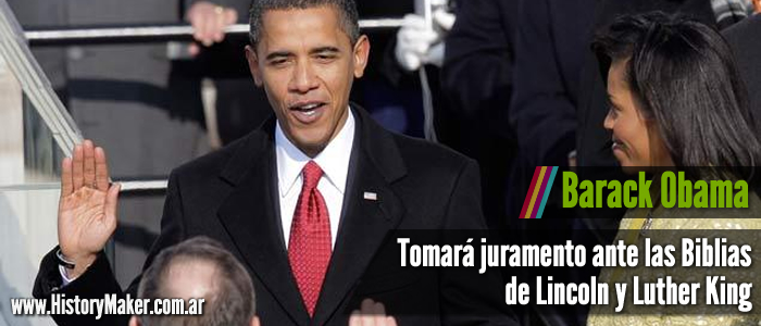 barack obama Tomará juramento ante las Biblias de Lincoln y Luther King