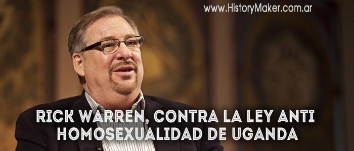 Rick Warren, contra la ley anti homosexualidad de Uganda