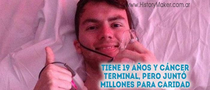 Tiene 19 años y cáncer terminal, pero juntó millones para caridad