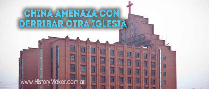 China amenaza con derribar otra iglesia