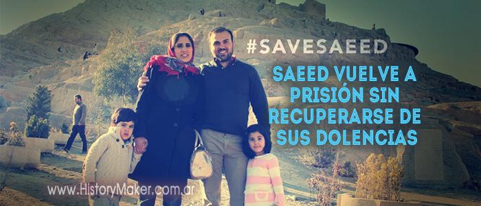 Saeed vuelve a prisión sin recuperarse de sus dolencias