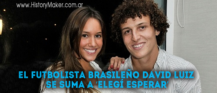 El futbolista brasileño David Luiz se suma a Elegí esperar