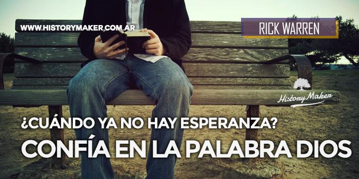 Confía-en-la-Palabra-Dios-Sin-Esperanza-Rick-Warren